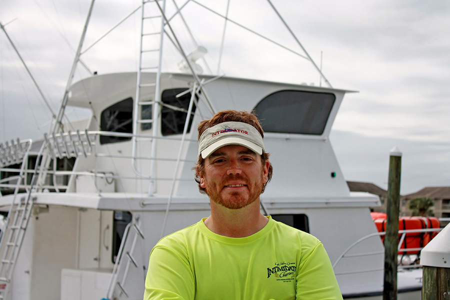 Chad, One of the Mates of the Intimidator Charter Boat