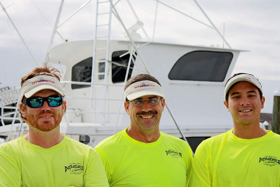 Three Mates of the Intimidator Charter Boat