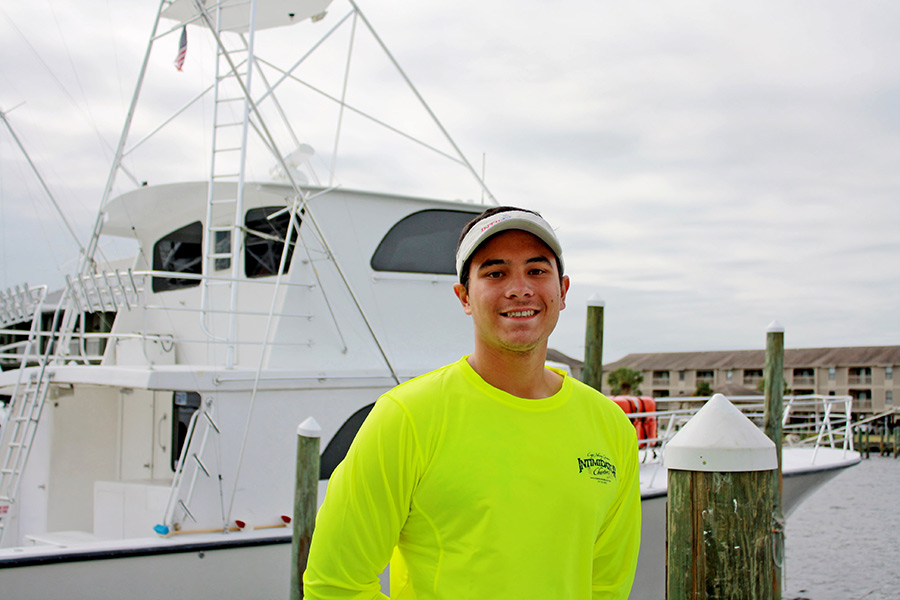 Josh, One of the Mates of the Intimidator Charter Boat