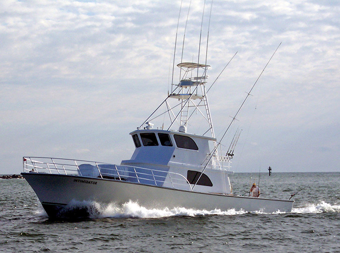The 'Intimidator' is a 65X19 ft Sportfisherman