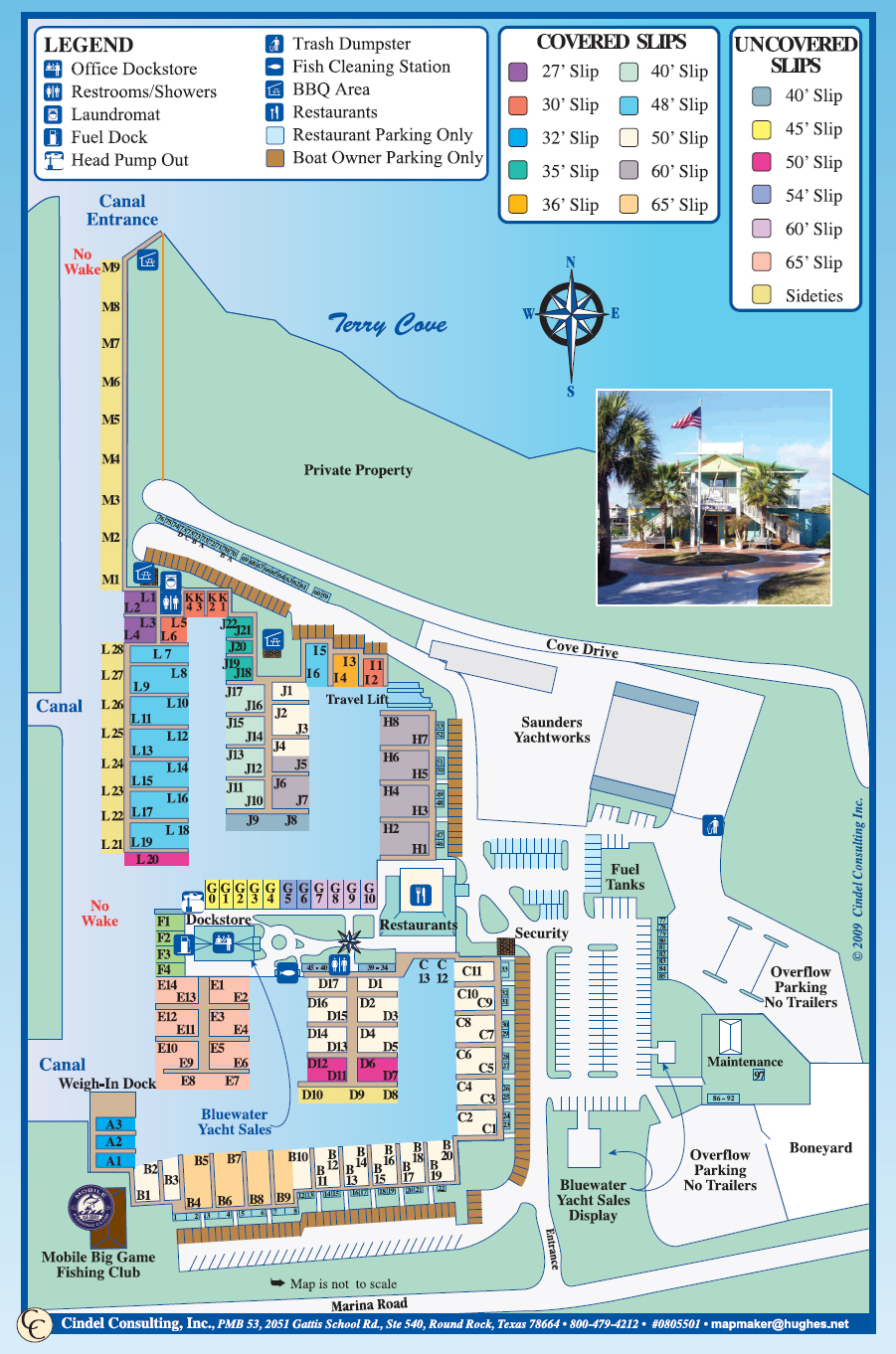 Orange Beach Marina Facility - Overhead map of area